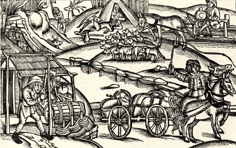 Concia delle pelli nel medioevo