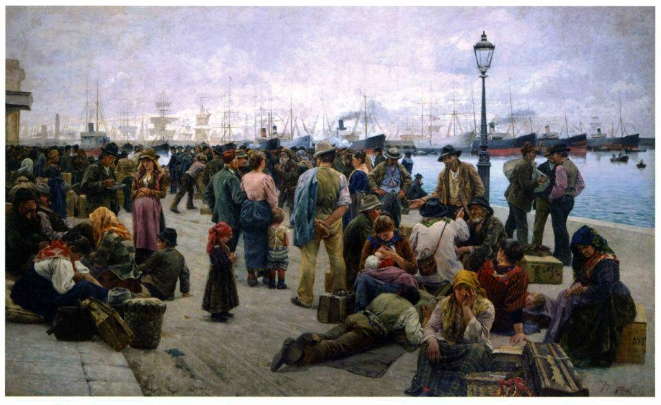 In fuga dalla terra d otranto spunti sull emigrazione - Chi ha dipinto il bagno turco ...