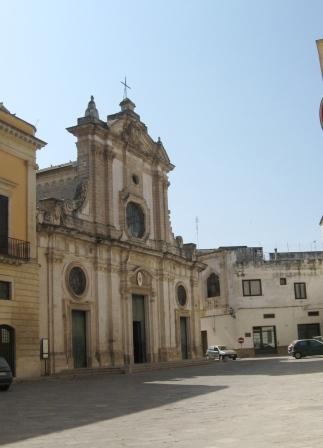 La facciata della cattedrale di Nardò, disegnata da Ferdinando Sanfelice