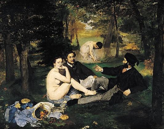 Édouard Manet, Le Déjeuner sur l'herbe (1863), Museo D'Orsay, Parigi