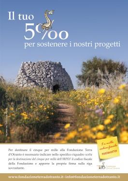 Il tuo 5 per mille per la Fondazione Terra d'Otranto