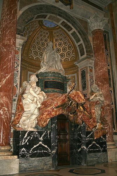 Sepolcro di Alessandro VII, Basilica di S. Pietro, Roma. immagine tratta da http://it.wikipedia.org/wiki/File:0_Monument_fun%C3%A9raire_du_pape_Alexandre_VII_-_St-Pierre_-_Vatican_(1).jpg