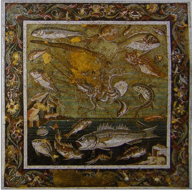 Mosaico da Pompei (I secolo d. C.), casa del Fauno, custodito nel Museo Archeologico nazionale di Napoli