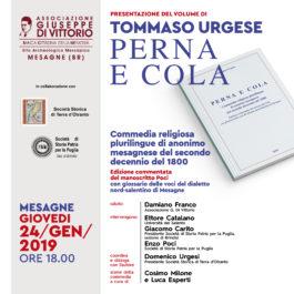 Libri| Perna e Cola, commedia religiosa plurilingue di anonimo mesagnese