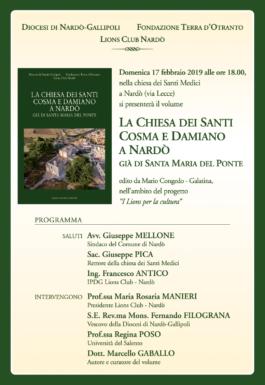 Libri| La chiesa dei SS. Medici Cosma e Damiano a Nardò