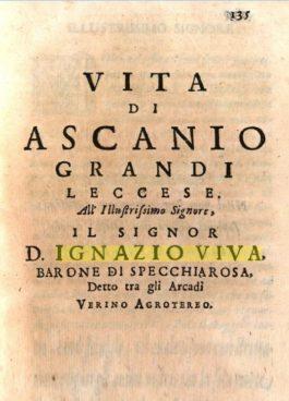 Gli Arcadi di Terra d'Otranto: Ignazio Viva di Lecce (11/x)